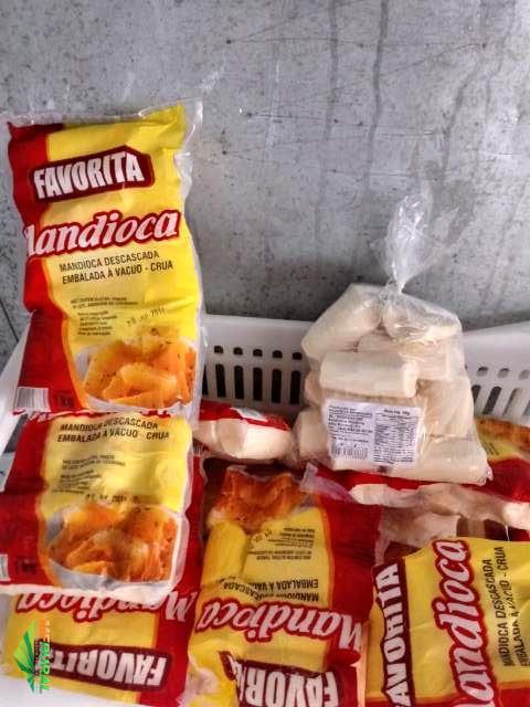 Mandioca Amarela embalada a vácuo