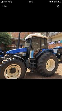 Trator New Holland TS 100 4x4 ano 02